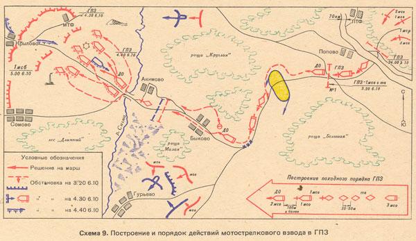 Схема боевой порядок роты